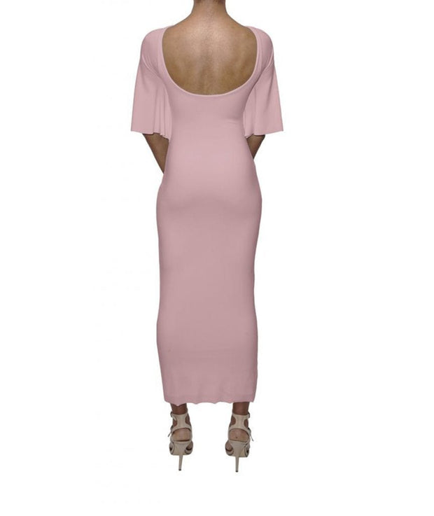 Pink Butterfly Bodycon, Dress, vmichaudz,- REHEART Canadian Online Wardrobe-Sharing Platform