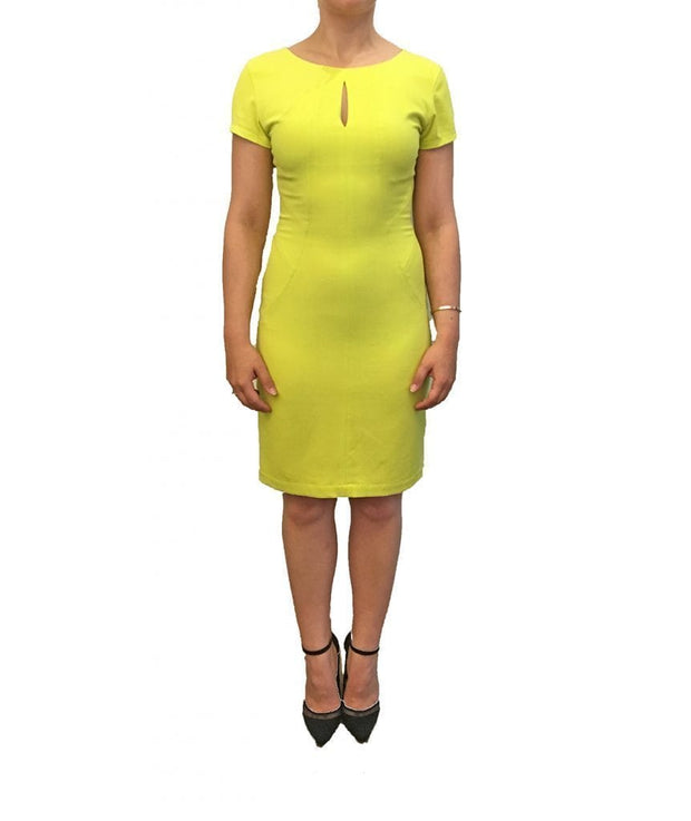 Happy Yellow Short Sleeve Dress, Dress, vmichaudz,- REHEART Canadian Online Wardrobe-Sharing Platform