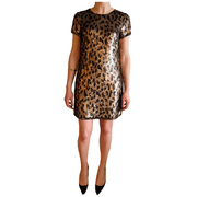 1 Cheetah Sequin Shirt Dress - REHEART 💜 Canadian Online Wardrobe-Sharing Platform