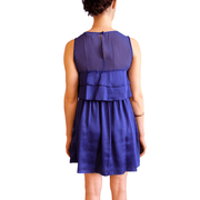 Silk Purple Ruffle, Dress, Missy-Kay-Kay,- REHEART Canadian Online Wardrobe-Sharing Platform