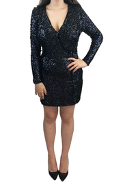 Long Sleeve Sequin Mini