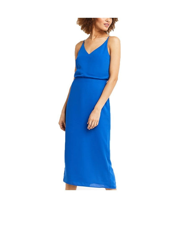 Blue Back-Tie Shift Dress, Dress, sabrinabeans,- REHEART Canadian Online Wardrobe-Sharing Platform