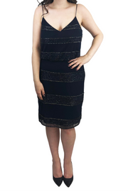 Navy Horizontal Beaded Dress
