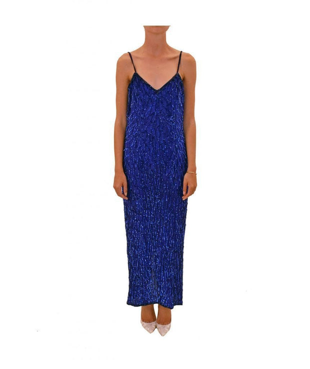 Vintage Silk Sequin Beaded Dress, Dress, olivbz,- REHEART Canadian Online Wardrobe-Sharing Platform