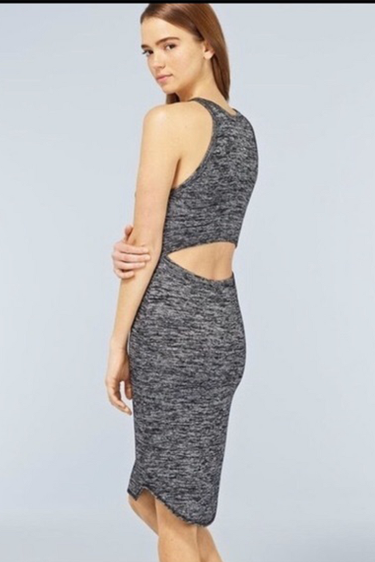 Bruni Knit Grey Dress, Dress, Patricia's,- REHEART Canadian Online Wardrobe-Sharing Platform