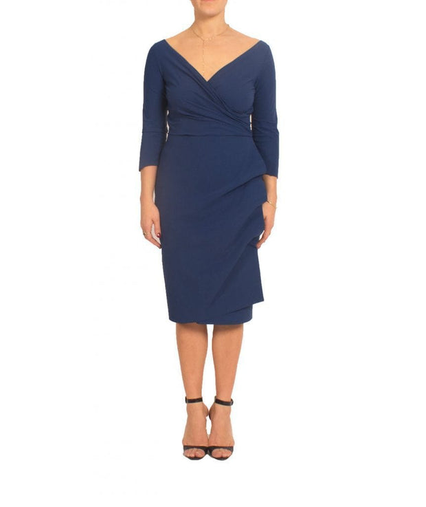 Navy Ruffle Cocktail Dress - REHEART 💜 Canadian Online Wardrobe-Sharing Platform