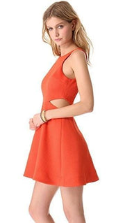 Coral A-Line Cut-Out Dress, Dress, andreajamm,- REHEART Canadian Online Wardrobe-Sharing Platform