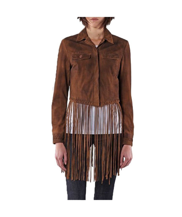 L Sunita Fringed Suede Leather Jacket, Jacket, mercedesdlz,- REHEART Canadian Online Wardrobe-Sharing Platform