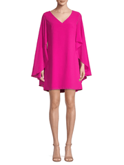 Cape-Sleeve A-Line Dress, Dress, ladydi,- REHEART Canadian Online Wardrobe-Sharing Platform