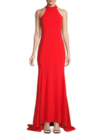 Halterneck High-Low Gown