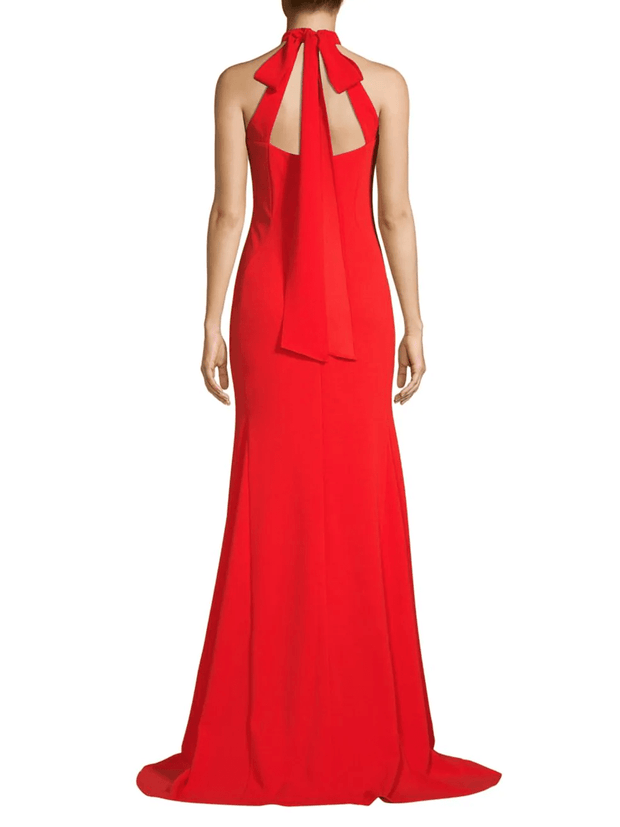 Halterneck High-Low Gown, Dress, Kelly,- REHEART Canadian Online Wardrobe-Sharing Platform