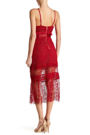 Lace Yoke Midi Dress, Dresses, lalalauren,- REHEART Canadian Online Wardrobe-Sharing Platform