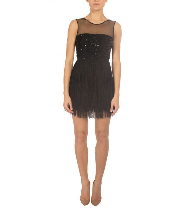 Melly Sequin Fringe Short Dress - REHEART 💜 Canadian Online Wardrobe-Sharing Platform