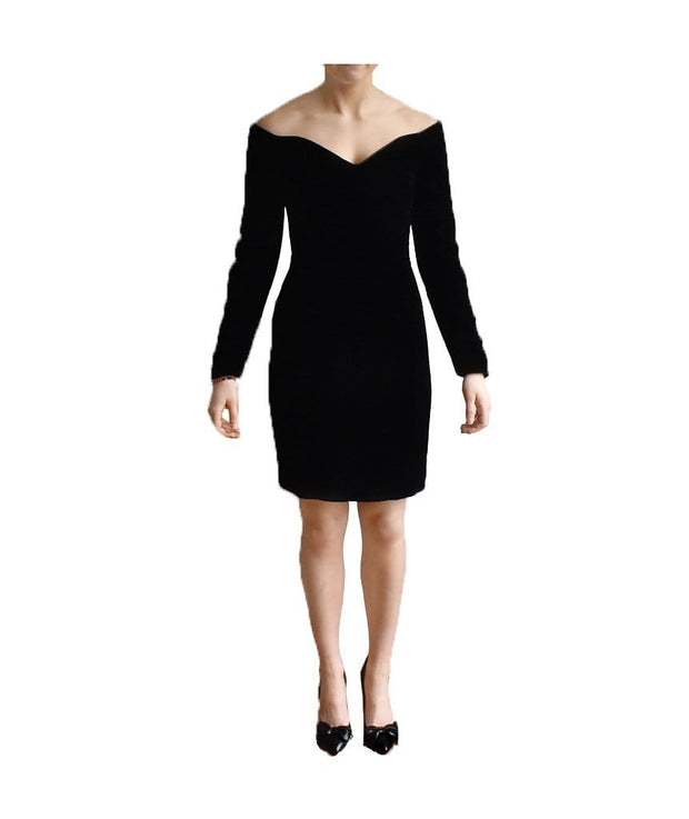 Velvet Cold Shoulder, Dress, ileanabattiston,- REHEART Canadian Online Wardrobe-Sharing Platform