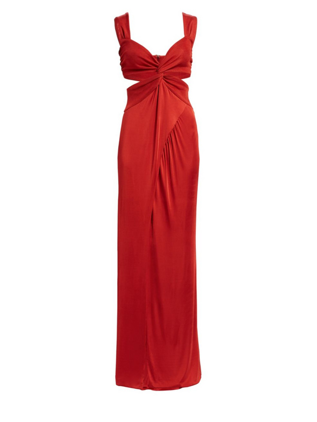 Horizon Twist Front Red Dress, Dress, lexi_pappas,- REHEART Canadian Online Wardrobe-Sharing Platform