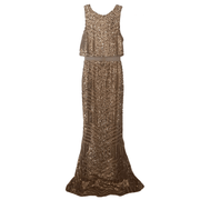 Gold Sequin Gown with Mesh - REHEART 💜 Canadian Online Wardrobe-Sharing Platform