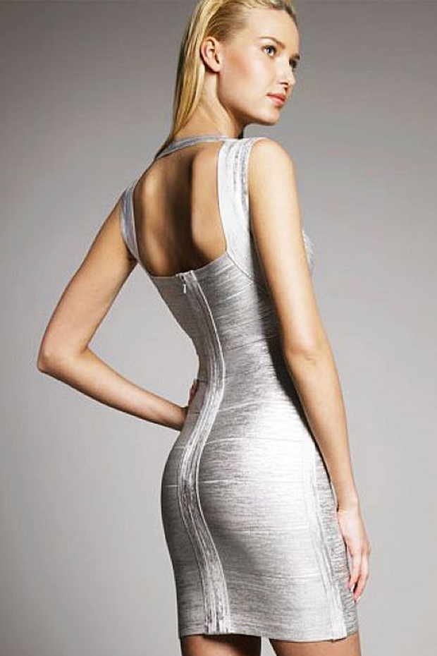 Iman Deep-V Sleeveless Bandage Dress, Dress, lushlife,- REHEART Canadian Online Wardrobe-Sharing Platform