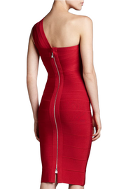 Red Allure One-Shoulder Bandage Dress, Dress, lushlife,- REHEART Canadian Online Wardrobe-Sharing Platform