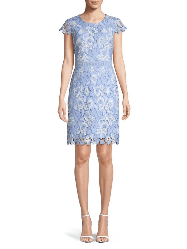 Crystal Blue Multi Lace Dress