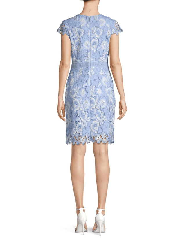 Crystal Blue Multi Lace Dress, Dress, Kelly,- REHEART Canadian Online Wardrobe-Sharing Platform