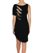 Asymmetric LBD with Sequin Cutouts, Dress, katcm1,- REHEART Canadian Online Wardrobe-Sharing Platform