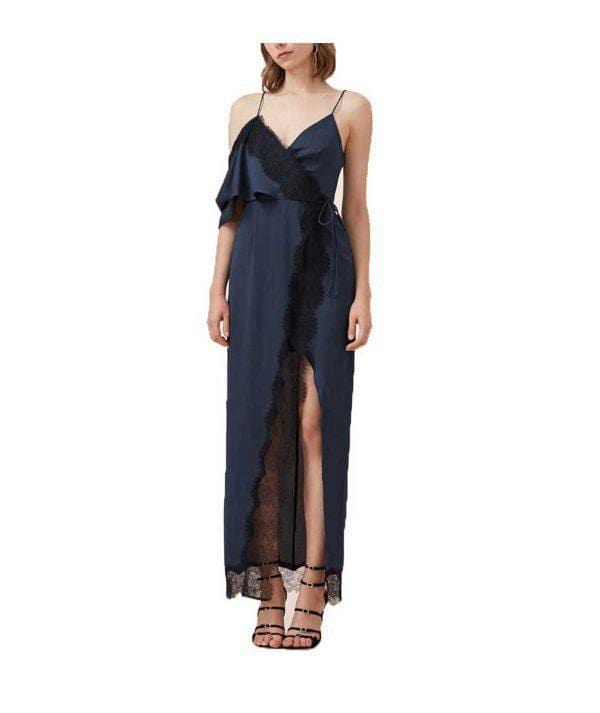 Stop Me Lace Trim Maxi Dress - REHEART 💜 Canadian Online Wardrobe-Sharing Platform