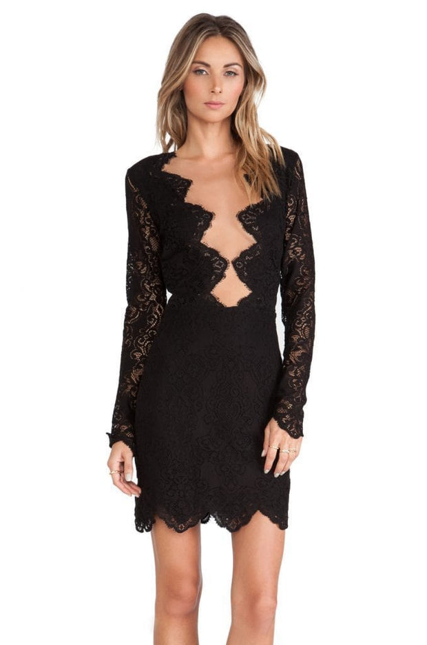 Black Eyelet Lace Dress - REHEART 💜 Canadian Online Wardrobe-Sharing Platform