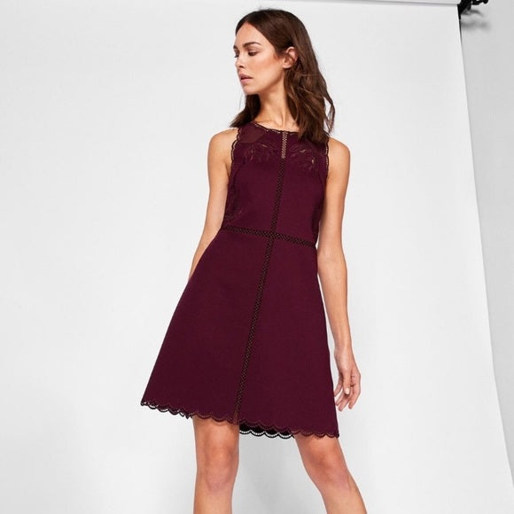 Codi Embroidered Scalloped Hem Dress, Dress, k8whitt,- REHEART Canadian Online Wardrobe-Sharing Platform