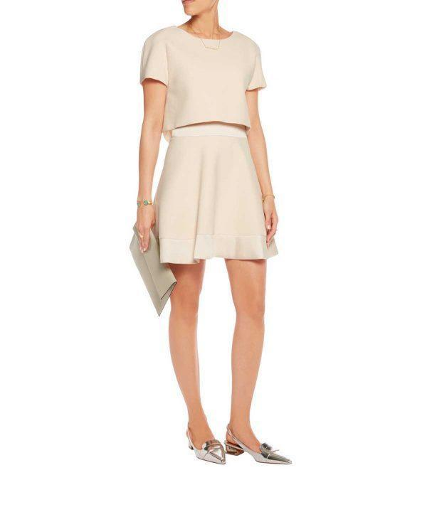 Cropped Cream Dress, Dress, daniellecassin,- REHEART Canadian Online Wardrobe-Sharing Platform
