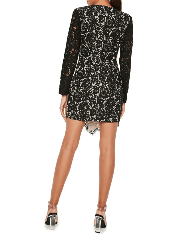 Sheath Lace Wrap Blazer Dress, Dresses, lalalauren,- REHEART Canadian Online Wardrobe-Sharing Platform