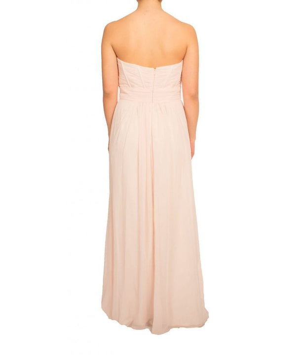 Blush Strapless Pleated Gown, Dress, biancagalati,- REHEART Canadian Online Wardrobe-Sharing Platform