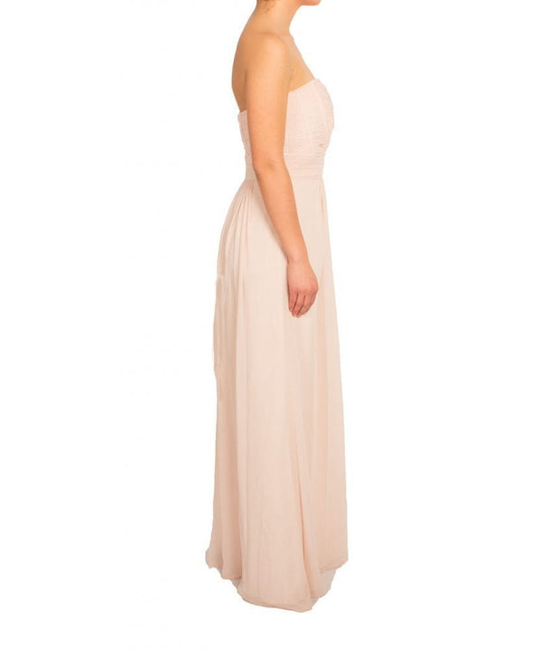 Blush Strapless Pleated Gown - REHEART 💜 Canadian Online Wardrobe-Sharing Platform