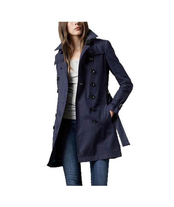 Brit Short Cotton Trench Coat, Jacket, kate_e_17,- REHEART Canadian Online Wardrobe-Sharing Platform