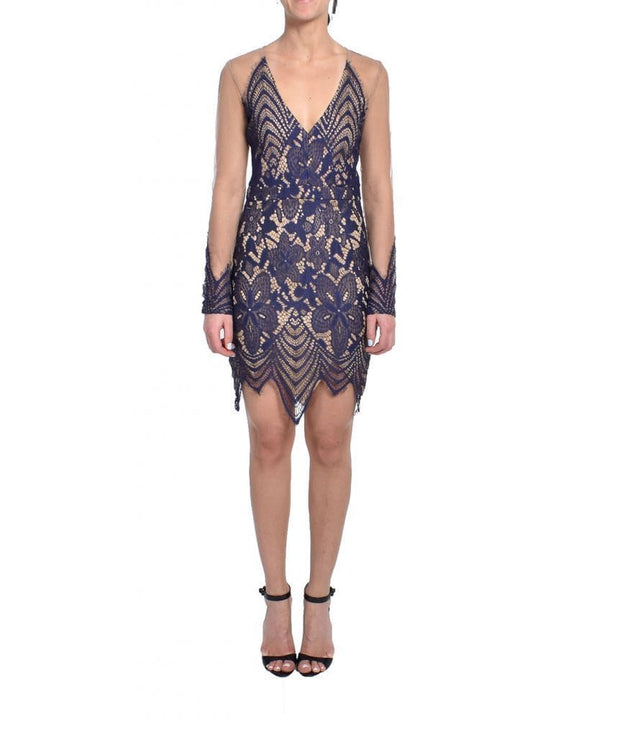 Baroque Lace Mini Mesh Dress, Dress, natfest,- REHEART Canadian Online Wardrobe-Sharing Platform