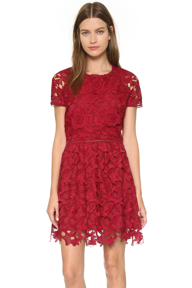 Valencia Rose Lace Dress, Dress, mariabelegrinis,- REHEART Canadian Online Wardrobe-Sharing Platform