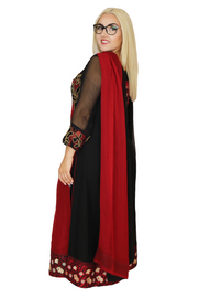 Red & Black Corset Dress, Dress, _mariam_kha,- REHEART Canadian Online Wardrobe-Sharing Platform