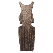 Gold Sequin Cutout, Dress, juliannaspena,- REHEART Canadian Online Wardrobe-Sharing Platform