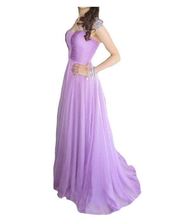 Lavender Jeweled Gown - REHEART 💜 Canadian Online Wardrobe-Sharing Platform