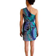 1 Silk Multi-Colour One Shoulder - REHEART 💜 Canadian Online Wardrobe-Sharing Platform