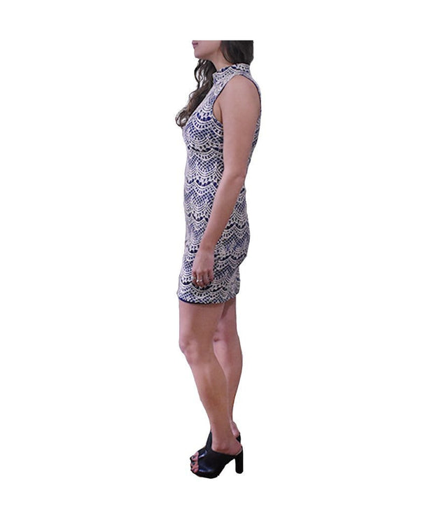 Navy Lace Dress, Dress, shopaholmik,- REHEART Canadian Online Wardrobe-Sharing Platform