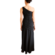 1 One Shoulder Pleated Gown, Dress, Missy-Kay-Kay,- REHEART Canadian Online Wardrobe-Sharing Platform