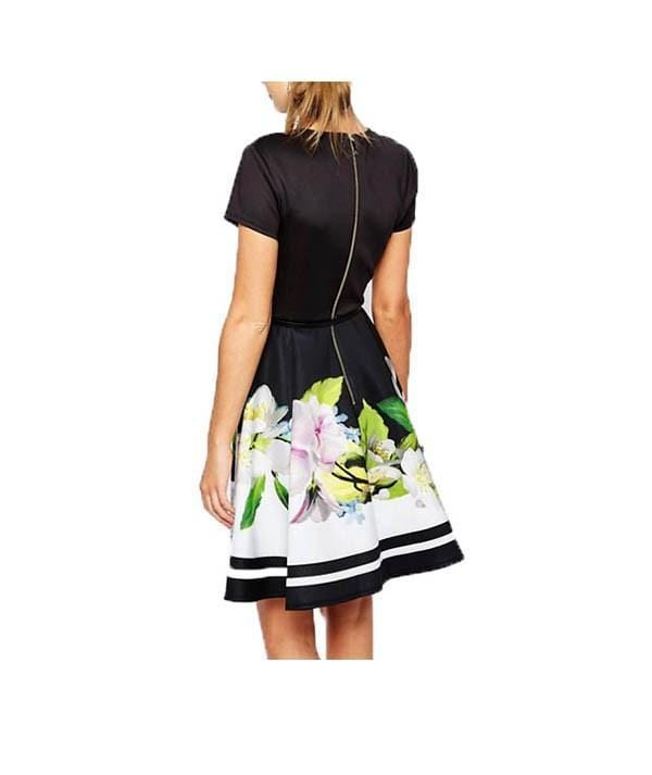 Vida Floral Fit and Flare Dress, Dress, lauradalessio,- REHEART Canadian Online Wardrobe-Sharing Platform