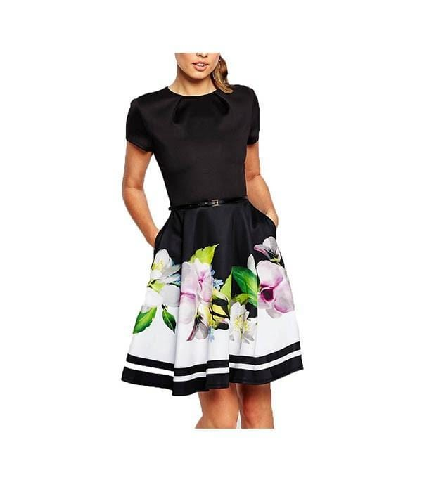 Vida Floral Fit and Flare Dress