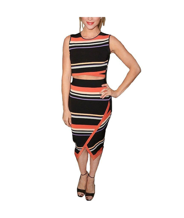Bright Stripes Skirt & Tank, 2-Piece, thecatwilliams,- REHEART Canadian Online Wardrobe-Sharing Platform