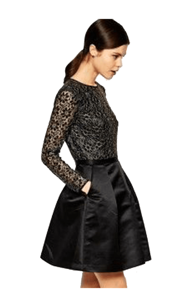 Freeya Lace Top Full Skirt Dress, Dress, katcm1,- REHEART Canadian Online Wardrobe-Sharing Platform
