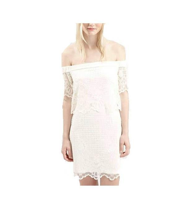 Lace Off the Shoulder, Dress, shopaholmik,- REHEART Canadian Online Wardrobe-Sharing Platform