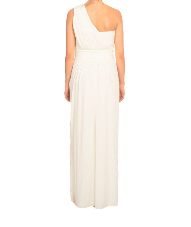 One Shoulder Gem White Column Gown, Dress, biancagalati,- REHEART Canadian Online Wardrobe-Sharing Platform