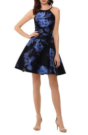 Floral Brocade Fit & Flare, Dress, cherk,- REHEART Canadian Online Wardrobe-Sharing Platform