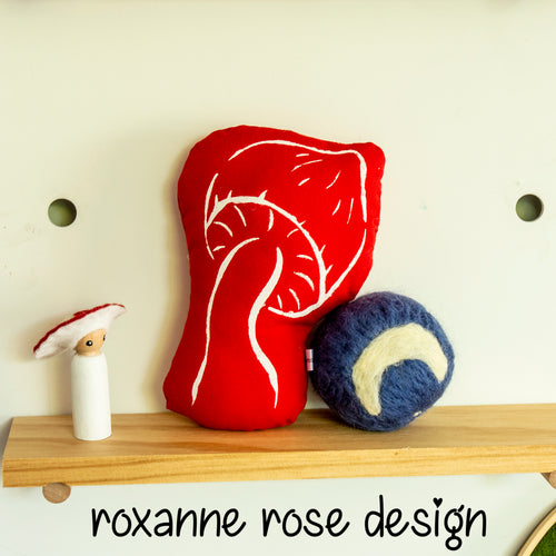 Red Toadstool Rattle