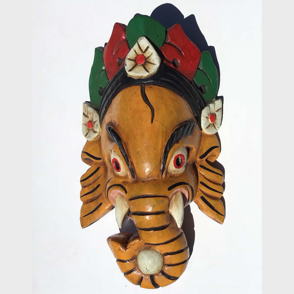 Hand Carved Ganesh wooden Mask (CWGM-1)